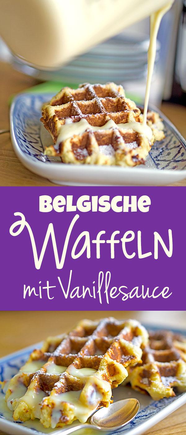 Belgische Waffeln mit Vanillesoße | Madame Cuisine Rezept