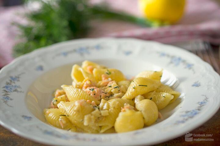 Muschelnudeln mit Lachs und Artischocken | Madame Cuisine