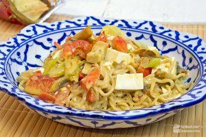 Curry-Nudeln mit Tofu (vegetarisch) | Madame Cuisine