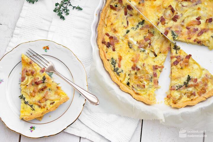 Quiche Lorraine (mit Speck und Zwiebeln) | Madame Cuisine