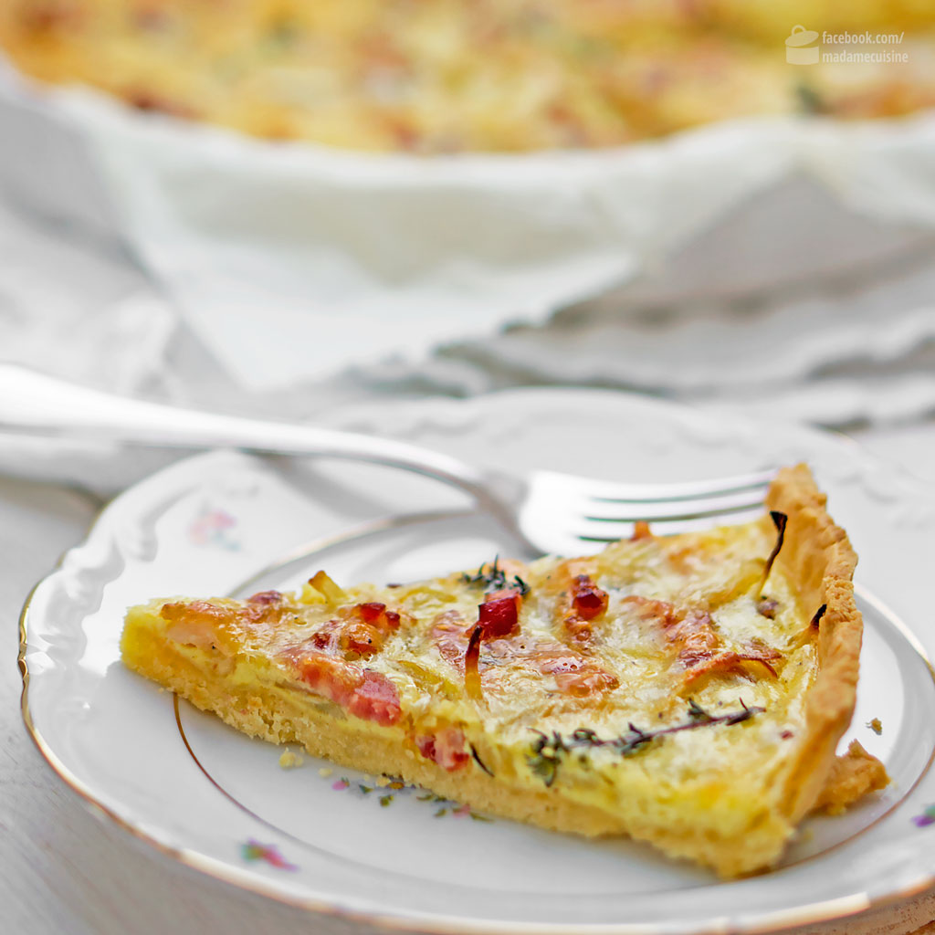 Quiche Lorraine (mit Speck und Zwiebeln) | Madame Cuisine Rezept
