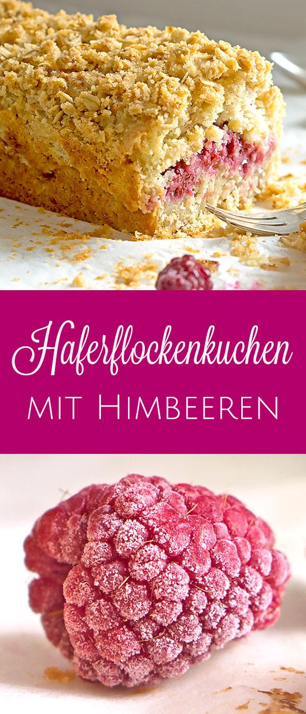 Knuspriger Haferflockenkuchen mit Himbeeren | Madame Cuisine Rezept