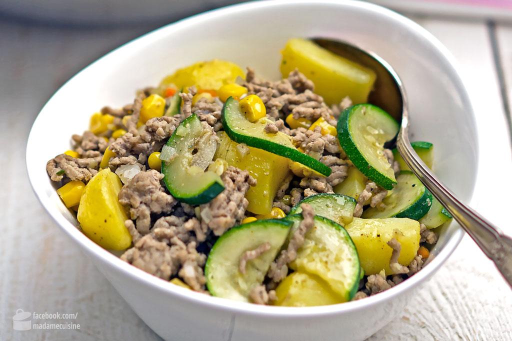 Zucchini-Hack-Pfanne mit Kartoffeln | Madame Cuisine