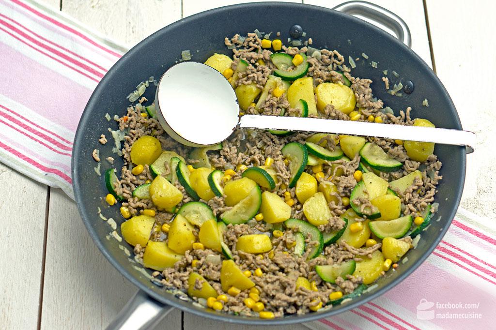 Zucchini-Hack-Pfanne mit Kartoffeln | Madame Cuisine Rezept