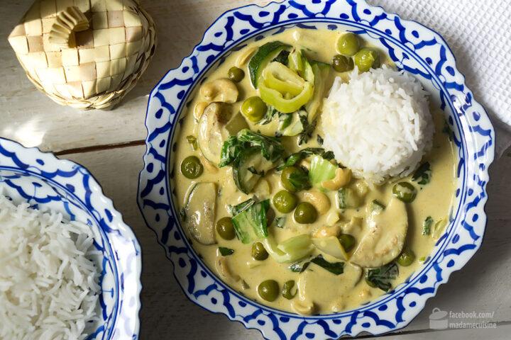Grünes Curry mit Thai-Auberginen | Madame Cuisine