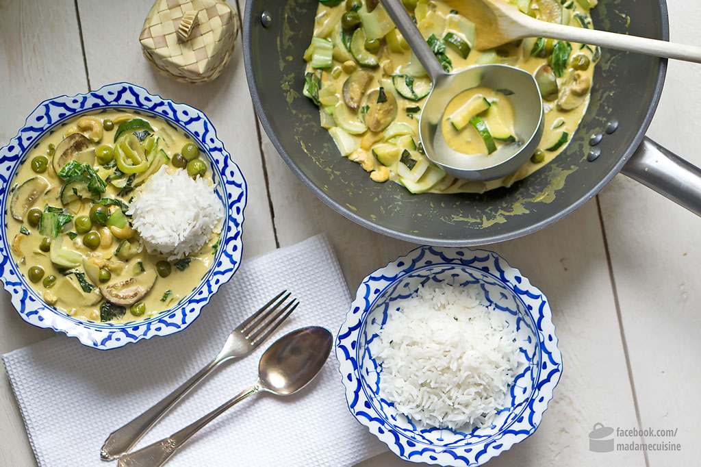 Grünes Curry mit Thai-Auberginen | Madame Cuisine Rezept