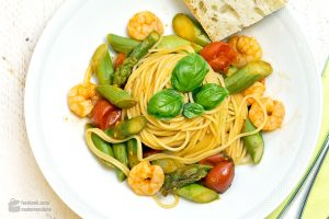 Pasta mit Spargel und Garnelen | Madame Cuisine