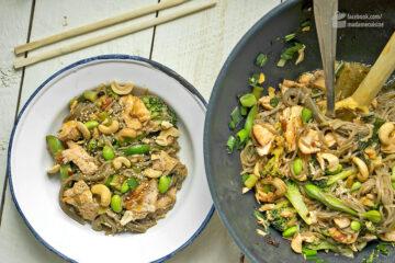 Soba-Nudeln mit Edamame und Lachs   Madame Cuisine