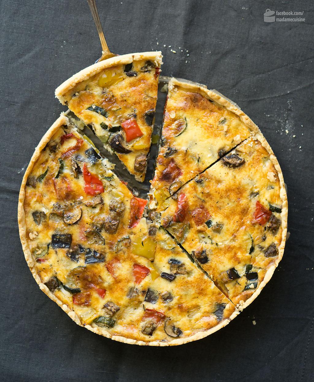 Ratatouille-Quiche (Gemüsekuchen) | Madame Cuisine Rezept