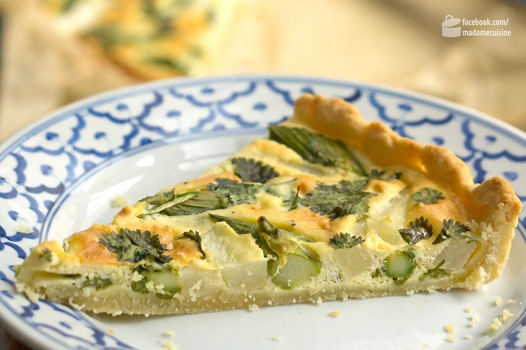 Quiche mit grünem Spargel und Kohlrabi | Madame Cuisine Rezept