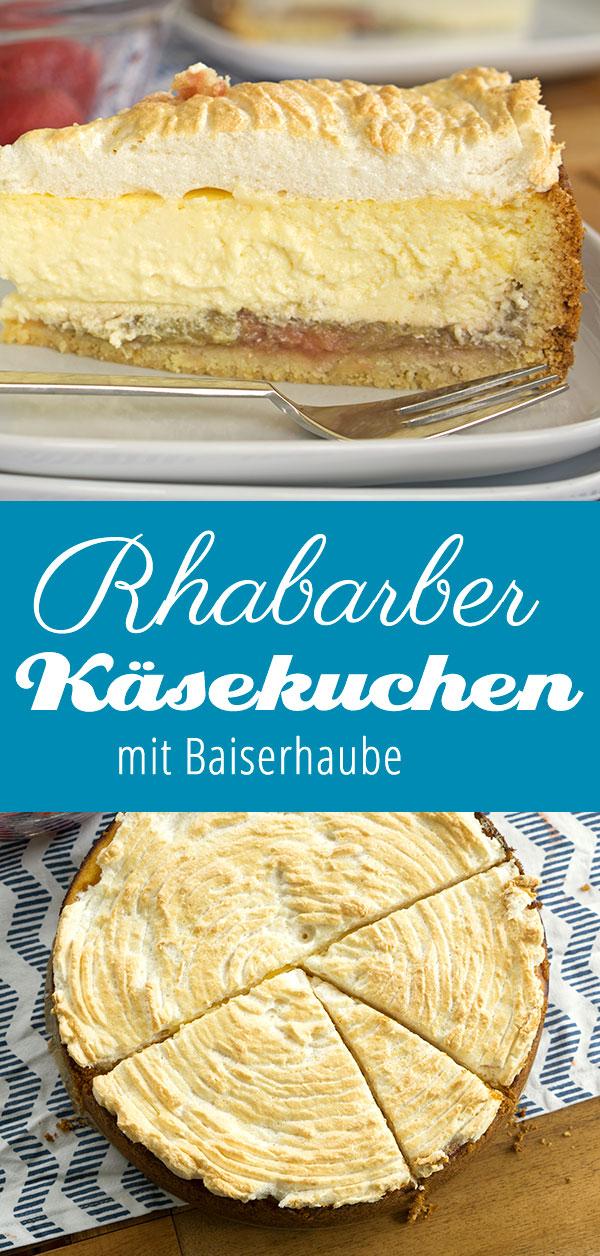 Rhabarber-Käsekuchen mit Baiser | Madame Cuisine Rezept