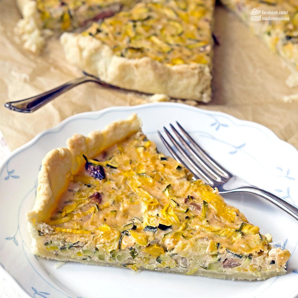 Zucchini-Quiche (vegetarisch) | Madame Cuisine Rezept