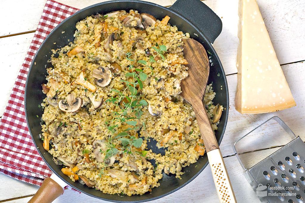 Herbstliche Bulgur-Pilzpfanne mit Thymian | Madame Cuisine Rezept