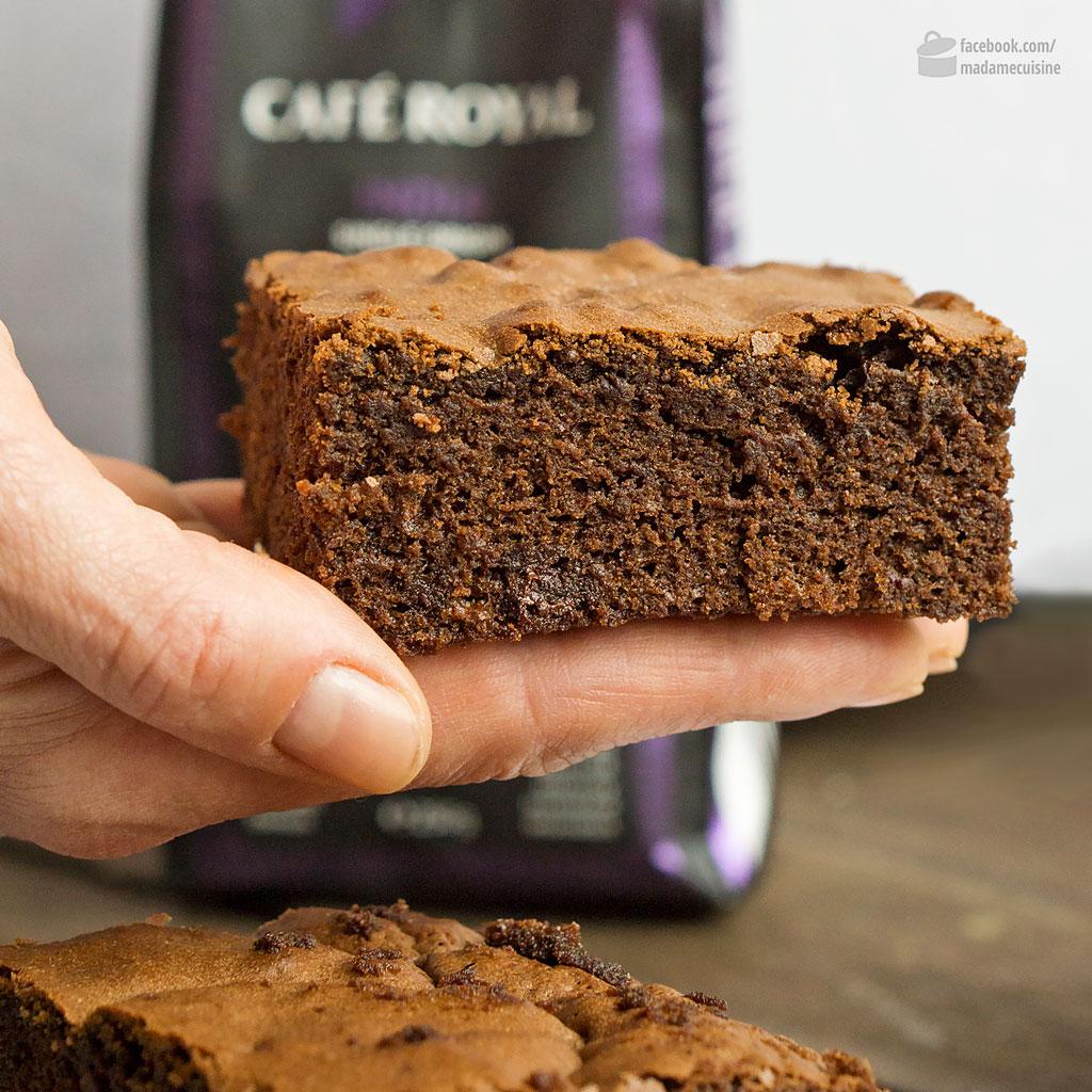 Espresso-Brownies (mit Cafe Royal India Blend) | Madame Cuisine Rezept