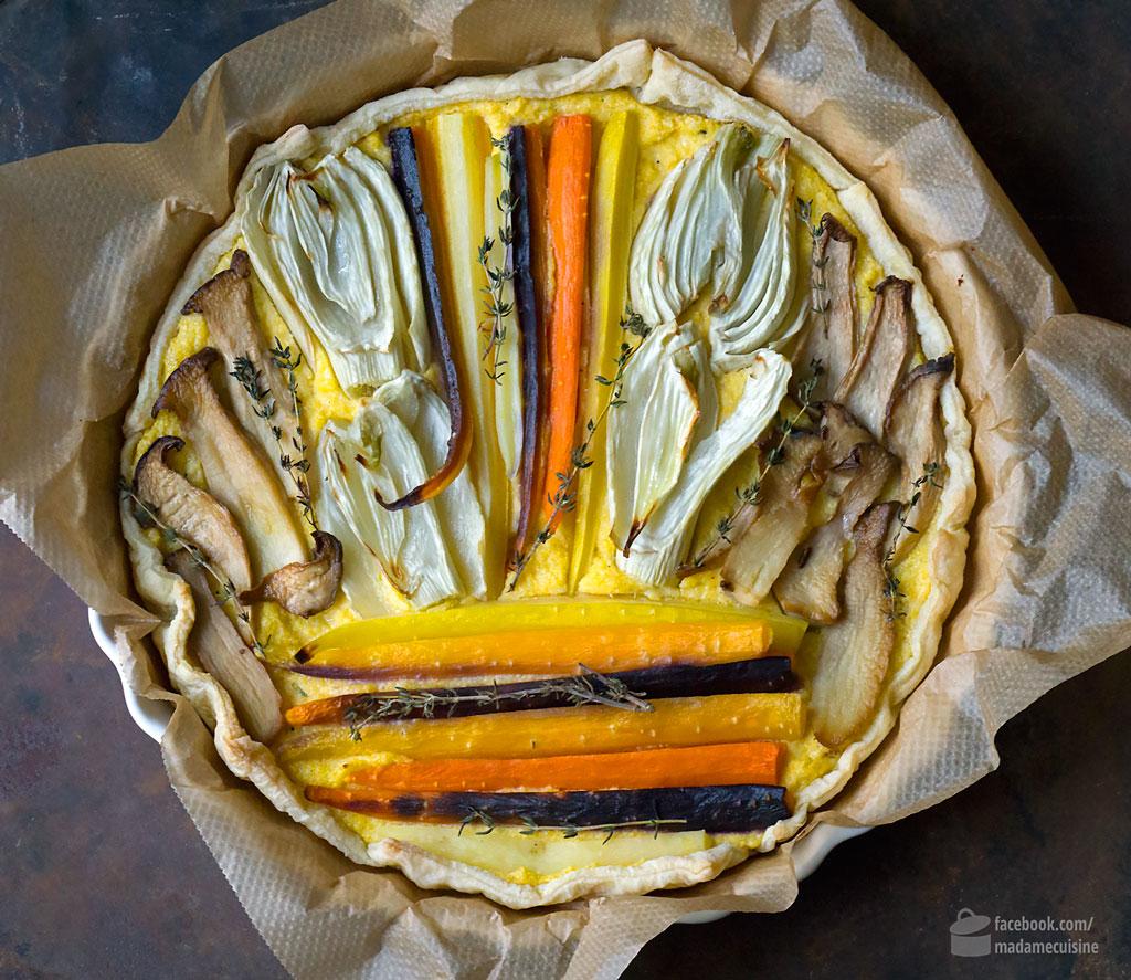 Polenta-Tarte mit Ofengemüse | Madame Cuisine Rezept