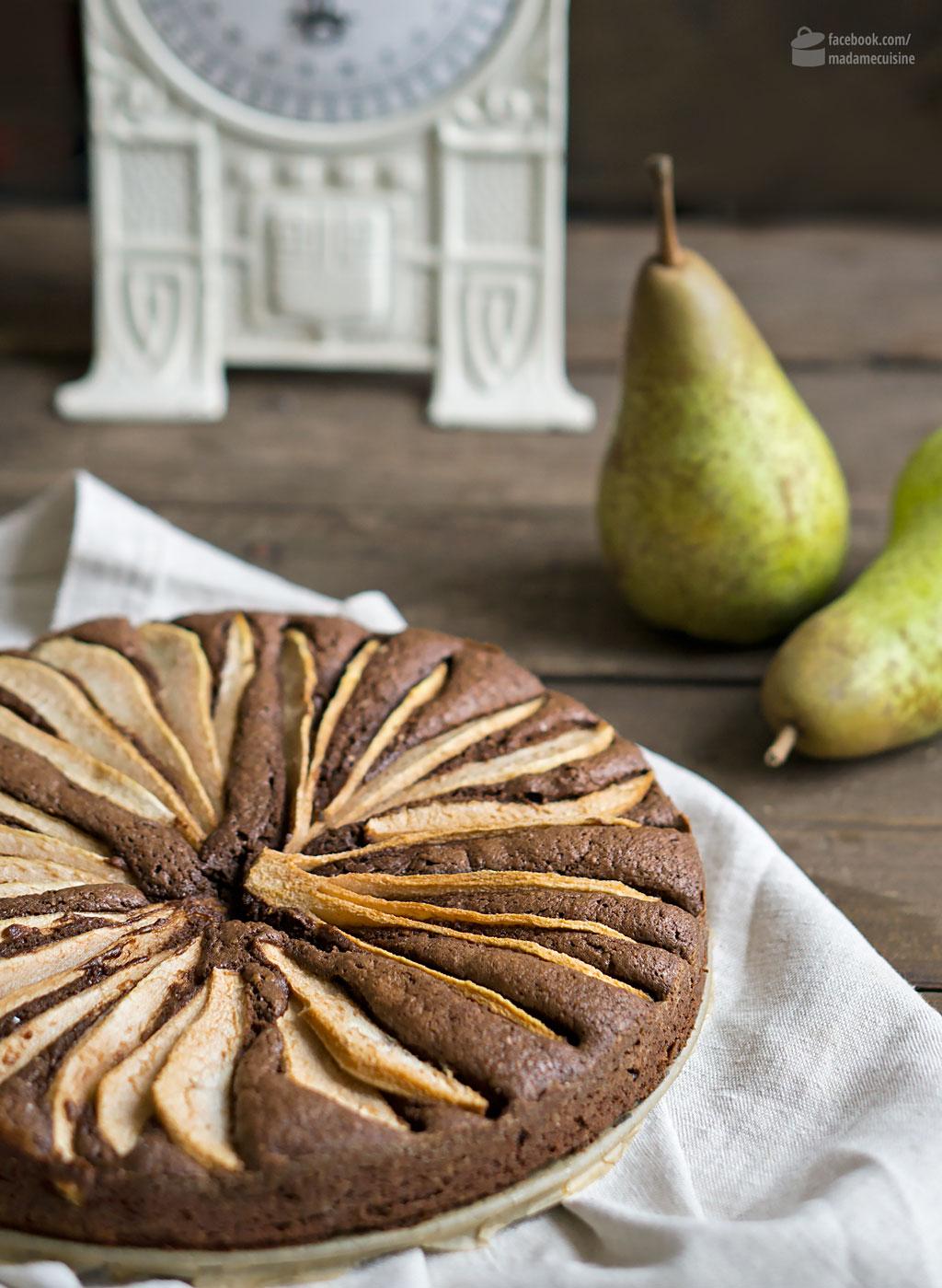 Schokokuchen mit Birne | Madame Cuisine Rezept