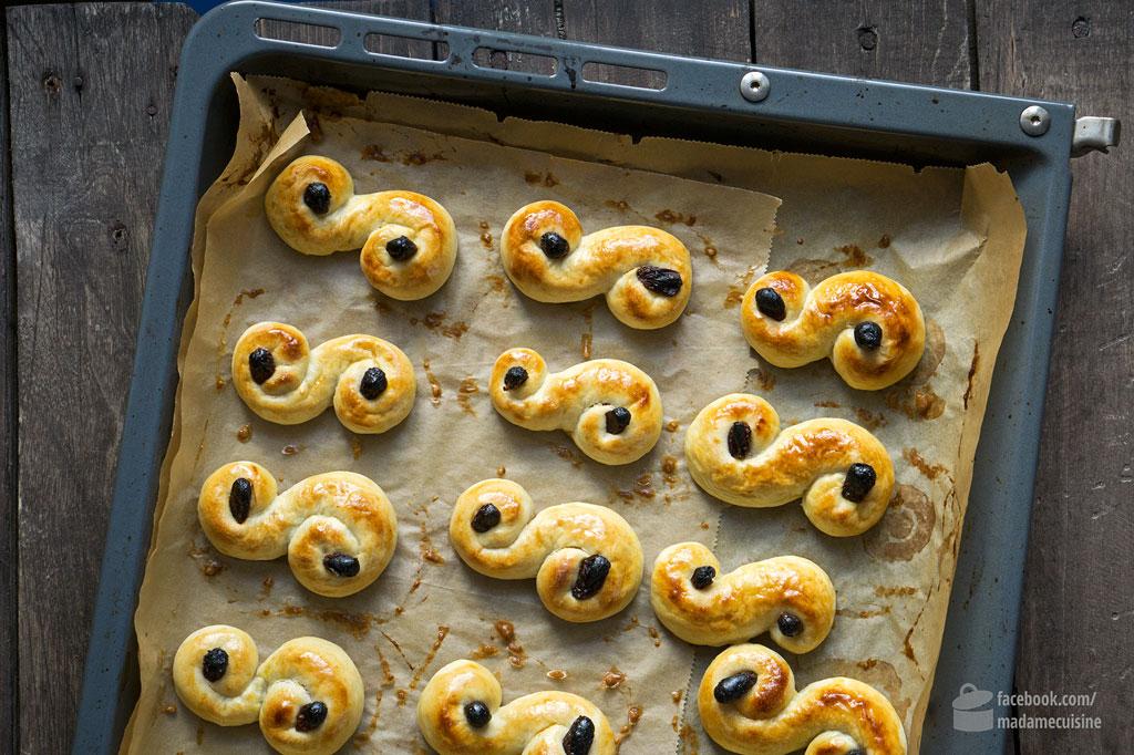 Zum Schwedischen Luciafest: Lussekatter / Lussebullar | Madame Cuisine Rezept