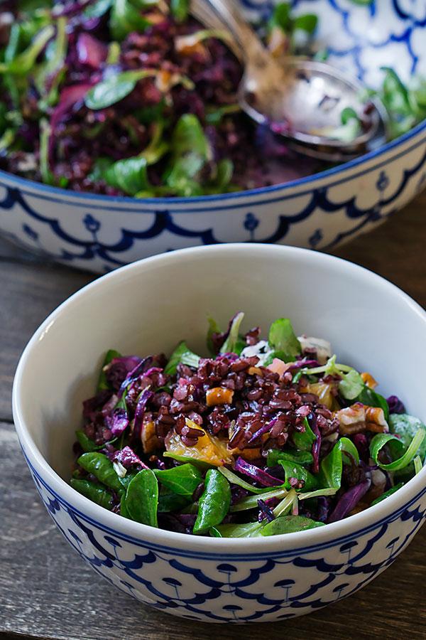 Winterlicher Rotkohlsalat mit schwarzem Reis | Madame Cuisine Rezept