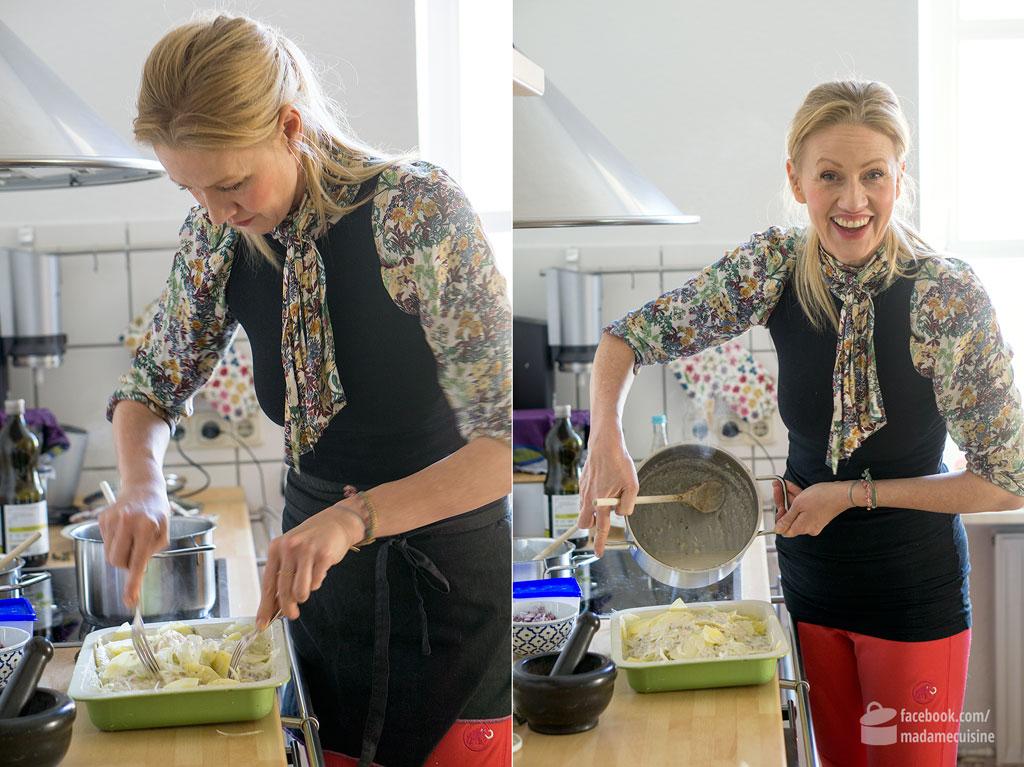 Andrea Sokol kocht Fenchel-Kartoffel-Gratin | Madame Cuisine Rezept
