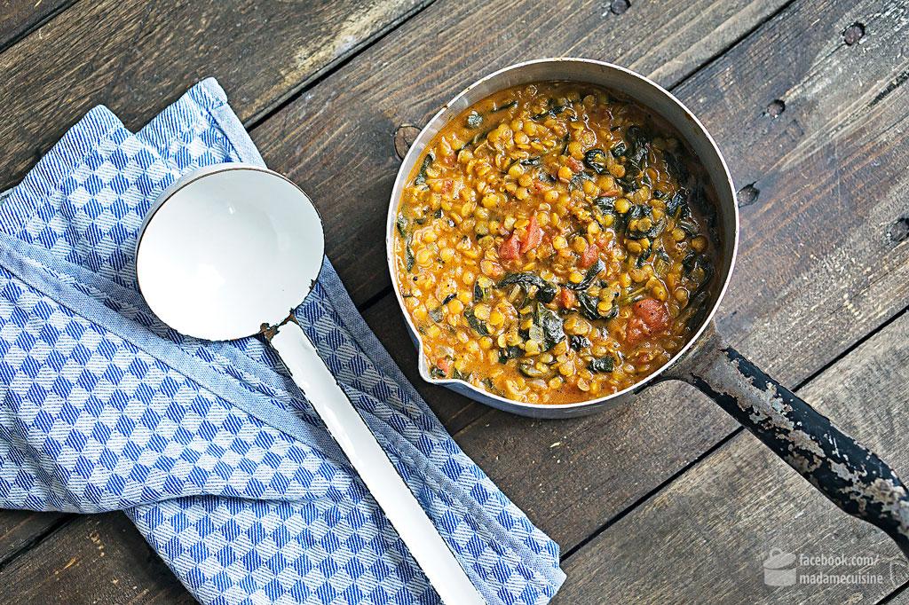 Indisches Linsen-Curry mit Spinat | Madame Cuisine Rezept