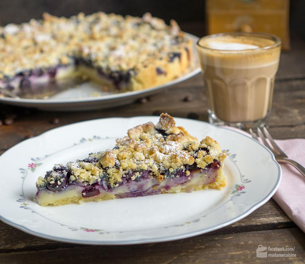 Blaubeer-Vanille-Tarte mit Streuseln | Madame Cuisine Rezept