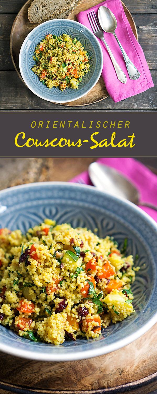 orientalischer couscous salat mit ger stetem gem se. Black Bedroom Furniture Sets. Home Design Ideas