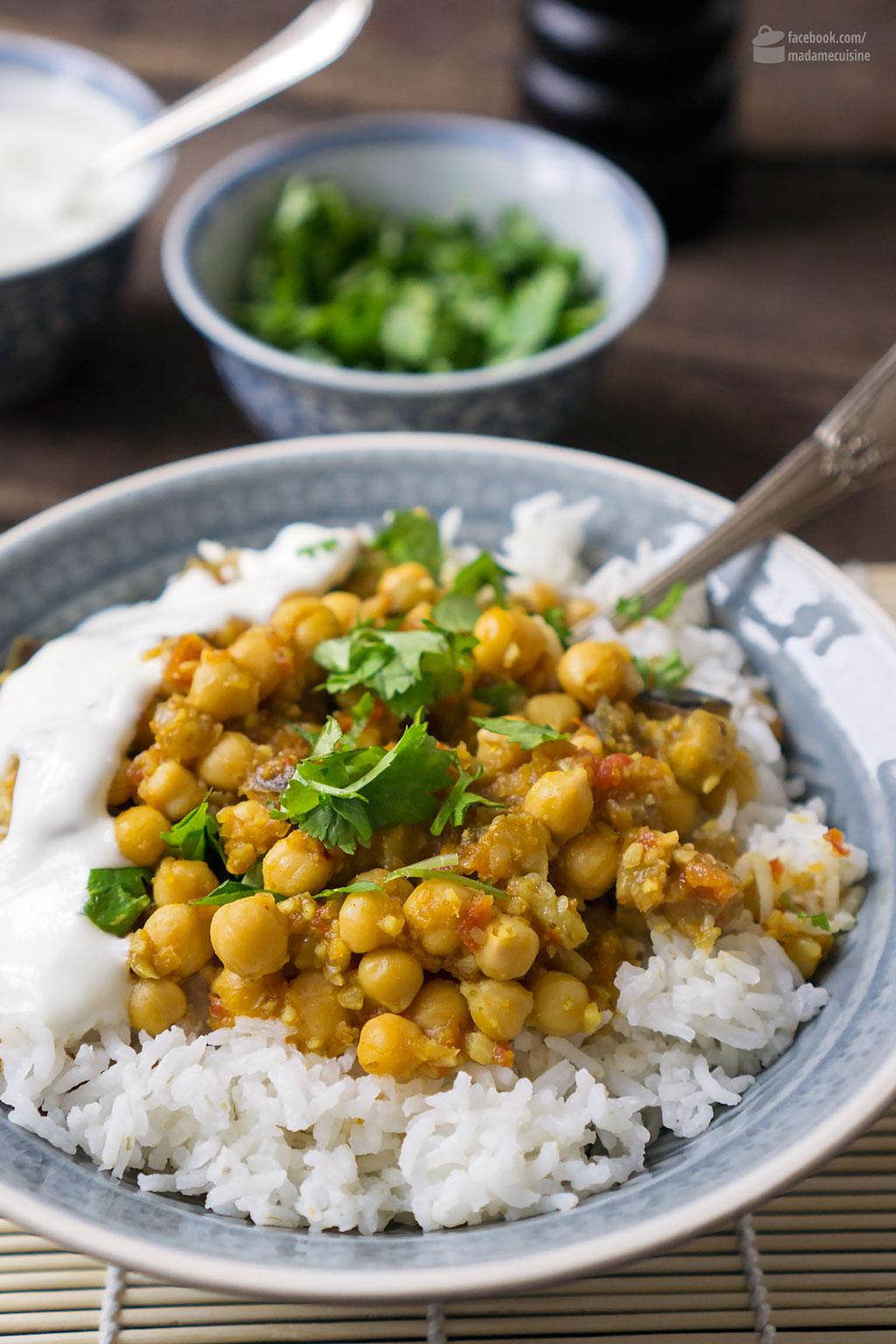 Kichererbsen-Curry mit Auberginen | Madame Cuisine Rezept