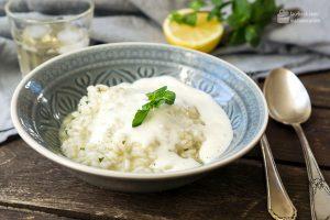 Zitronen-Risotto mit Minze