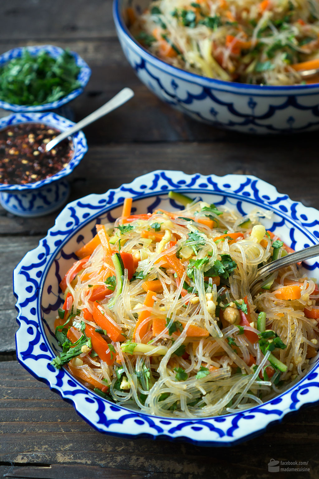 Glasnudelsalat mit buntem Gemüse | Madame Cuisine Rezept