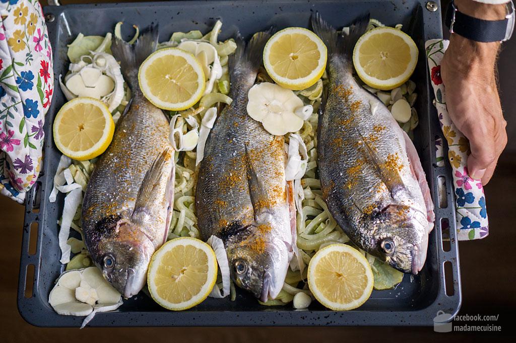 Dorade vom Blech mit Fenchel & Kartoffeln | Madame Cuisine Rezept