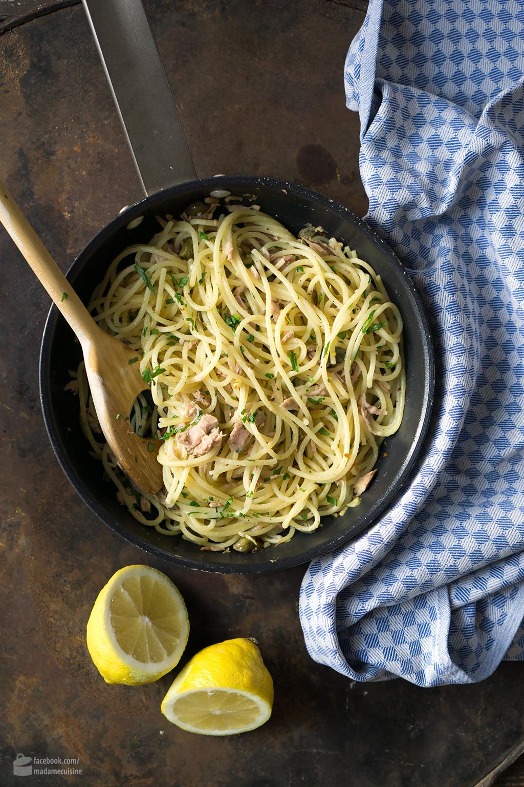 Spaghetti mit Thunfisch und Kapern | Madame Cuisine Rezept