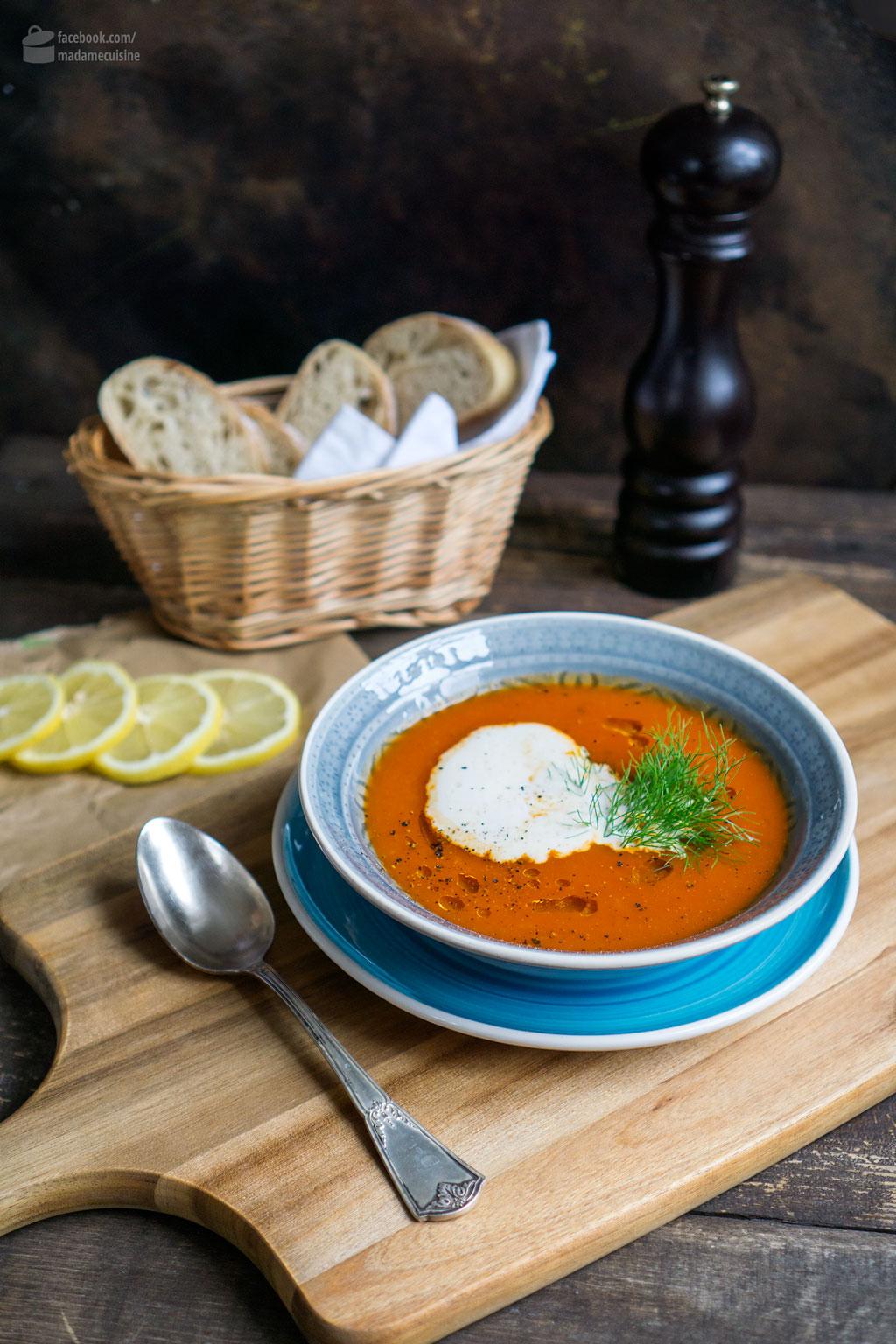 Tomatensuppe mit Fenchel & Knoblauch | Madame Cuisine Rezept