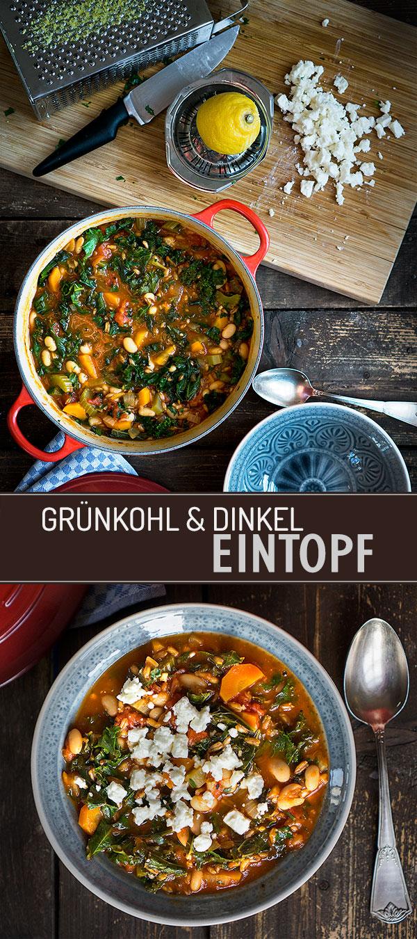 Grünkohl-Dinkel-Eintopf mit Tomaten | Madame Cuisine Rezept