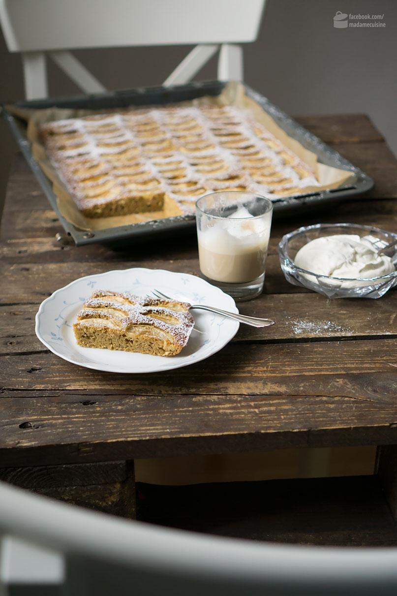 Apfel-Nuss-Kuchen vom Blech | Madame Cuisine Rezept