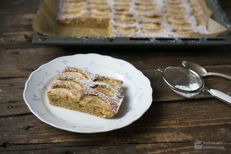 Apfel-Nuss-Kuchen vom Blech - Madame Cuisine