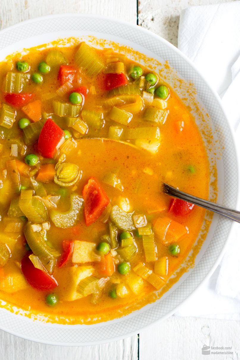 Warme gesunde Gemüsesuppe | Madame Cuisine Rezept
