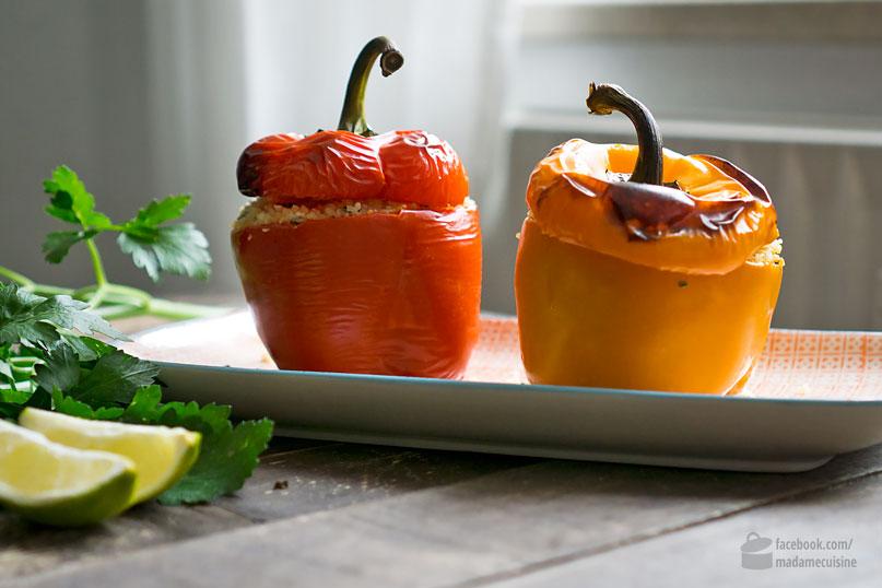 Gefüllte Paprika mit Couscous und Rosinen   Madame Cuisine Rezept