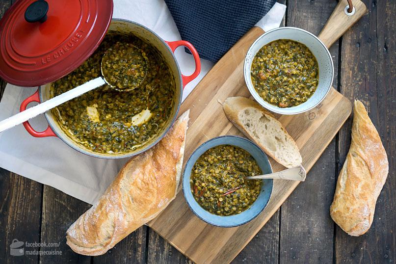 Linsen-Curry mit Spinat & Tomaten | Madame Cuisine Rezept