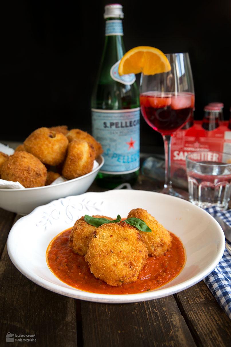 Arancini (frittierte Reisbällchen) an Tomatensugo | Madame Cuisine Rezept