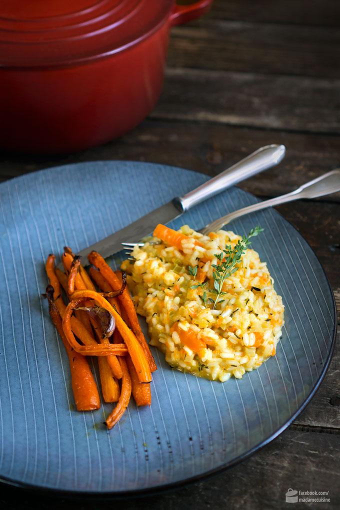 Karotten-Risotto (Möhren-Risotto) vegan | Madame Cuisine Rezept