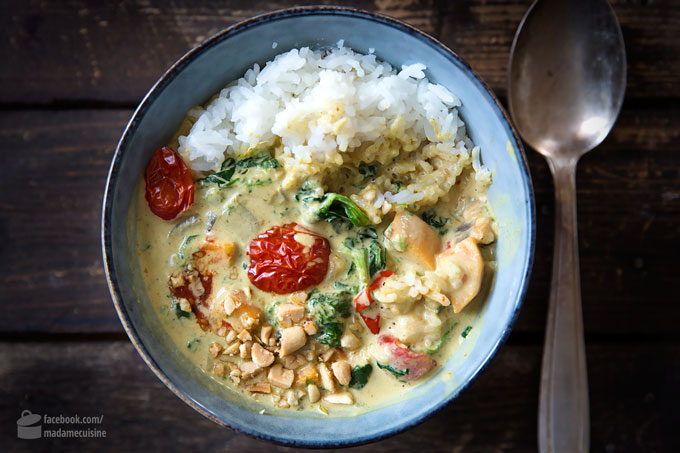 Süßkartoffel-Curry mit Spinat und Tomaten | Madame Cuisine Rezept