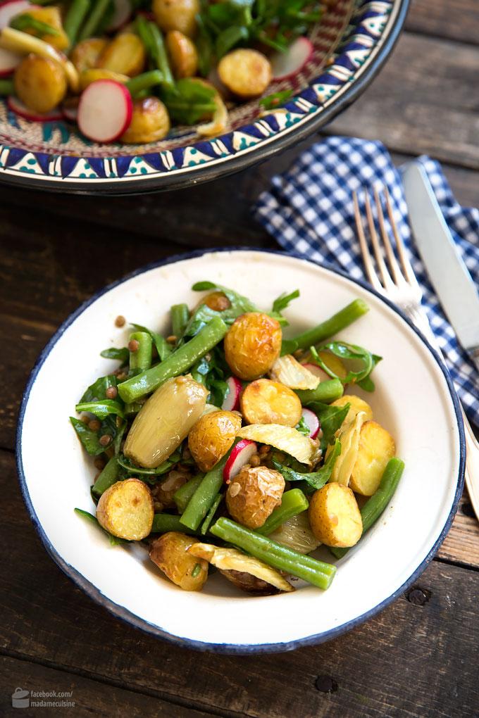 Backofen-Kartoffelsalat mit Fenchel und Bohnen | Madame Cuisine Rezept