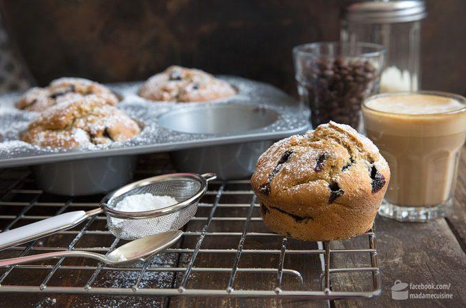 Blaubeer-Muffins mit Espresso
