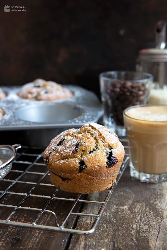 Saftige Blaubeer-Muffins mit Espresso | Madame Cuisine Rezept