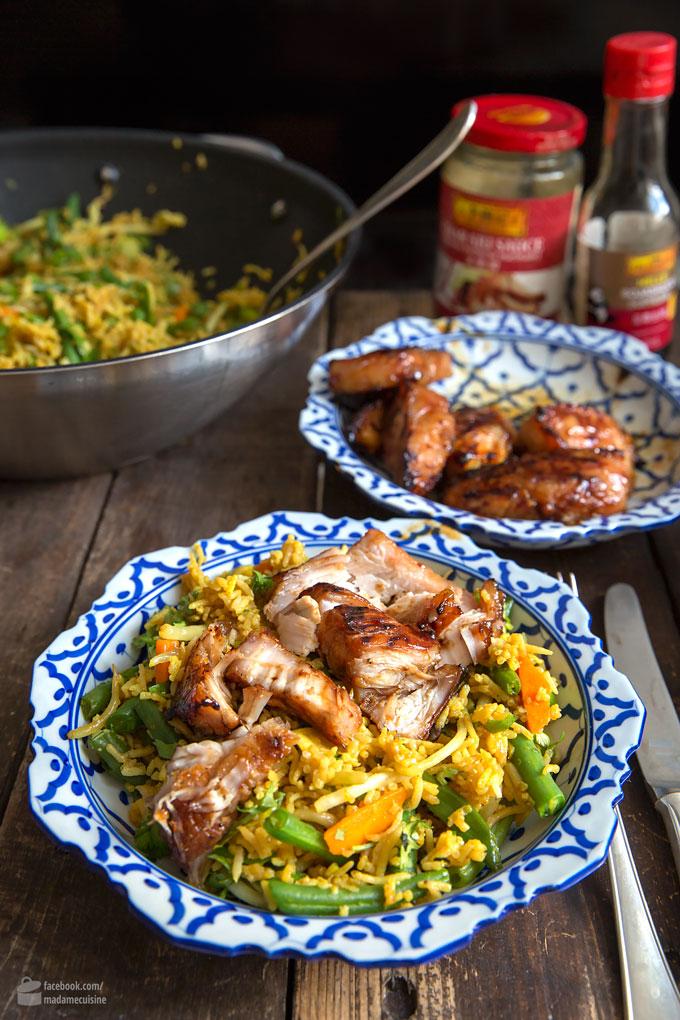 Asia Fusion: Nasi Goreng mit Char Siu Chicken | Madame Cuisine Rezept