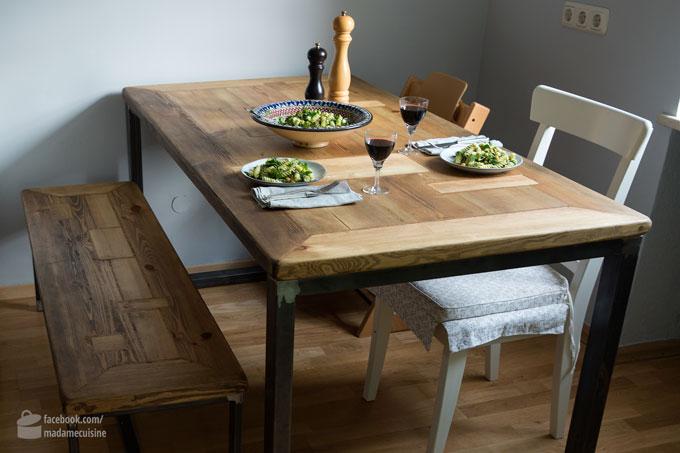 Nudelsalat mit Pesto, Kichererbsen und Kräutern | Madame Cuisine Rezept