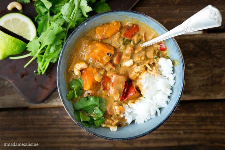 Kürbis-Curry mit Kokosmilch | Madame Cuisine Rezept