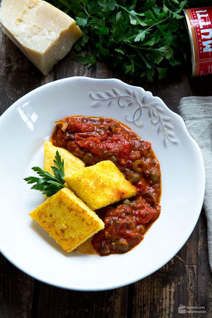 Gebratene Polenta-Schnitten an Tomaten-Sugo | Madame Cuisine Rezept