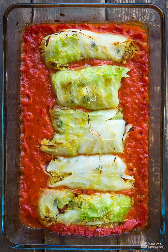 Vegetarische Kohlrouladen mit Quinoa-Füllung | Madame Cuisine Rezept