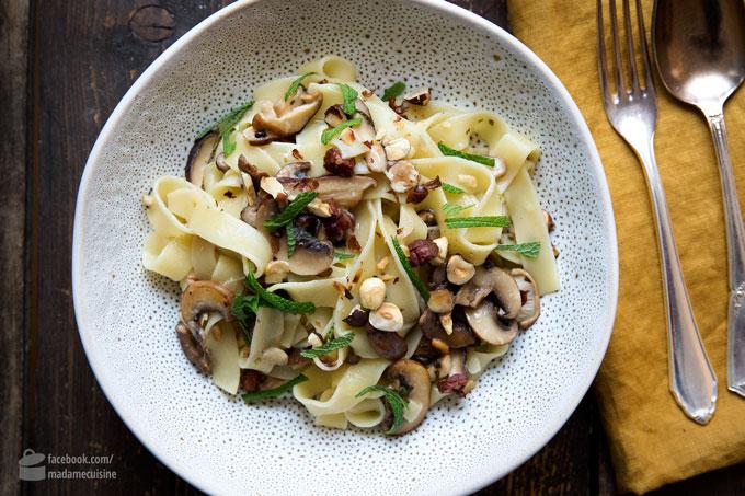 Fettuccine mit Pilzen